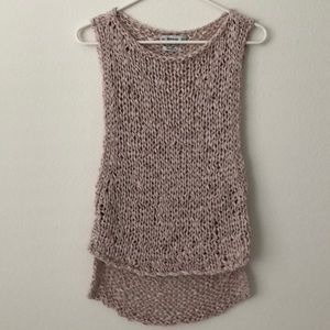 Cream/Blush Pink Zara Chunky Knit Tank